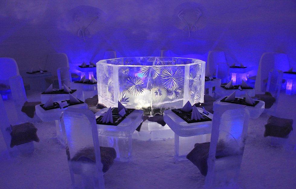 חדר אוכל (צילום: Lapland Hotels SnowVillage) (צילום: Lapland Hotels SnowVillage)