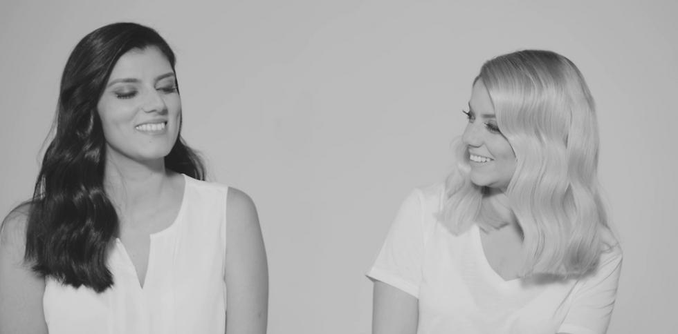כמעט תאומות זהות. שירי מימון ואחותה לבנת  (מתוך הקליפ) (מתוך הקליפ)