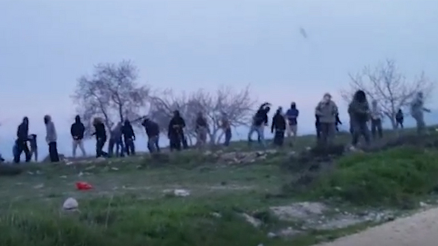 Footage from the violent clashes