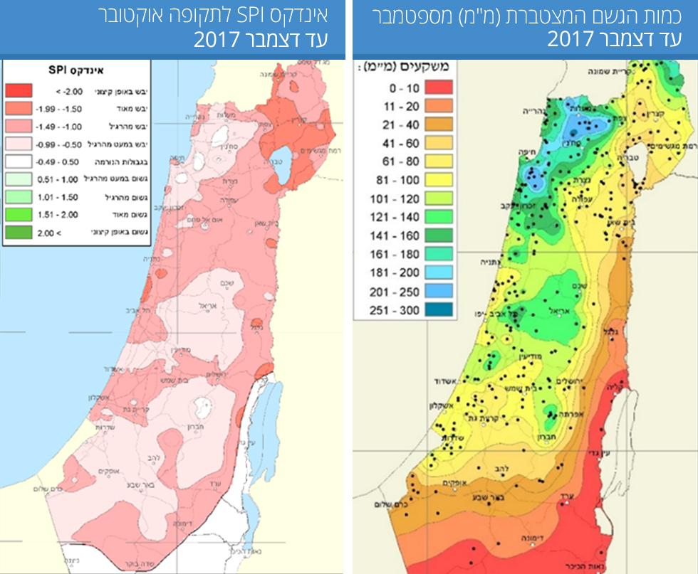 Индекс засухи от метеослужбы Израиля