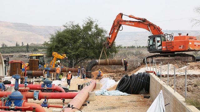 Усовершенствование водной инфраструктуры на Голанах. Фото: Моше Баркан