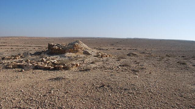 האתר שבו נתגלו העצמות (צילום: פרופ' גיא בר עוז)