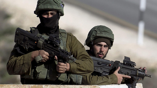 IDF soldiers, West Bank (Photo: AFP)
