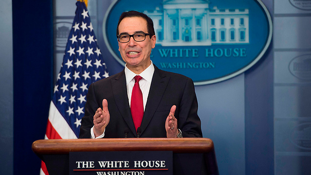 US Sect. of Treasury Mnuchin announced the new sanctions (Photo: AFP)