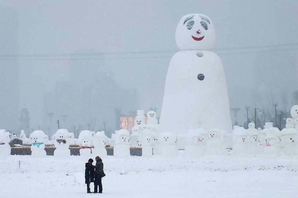 אנשי שלג בפארק בחרבין, סין (צילום: רויטרס)