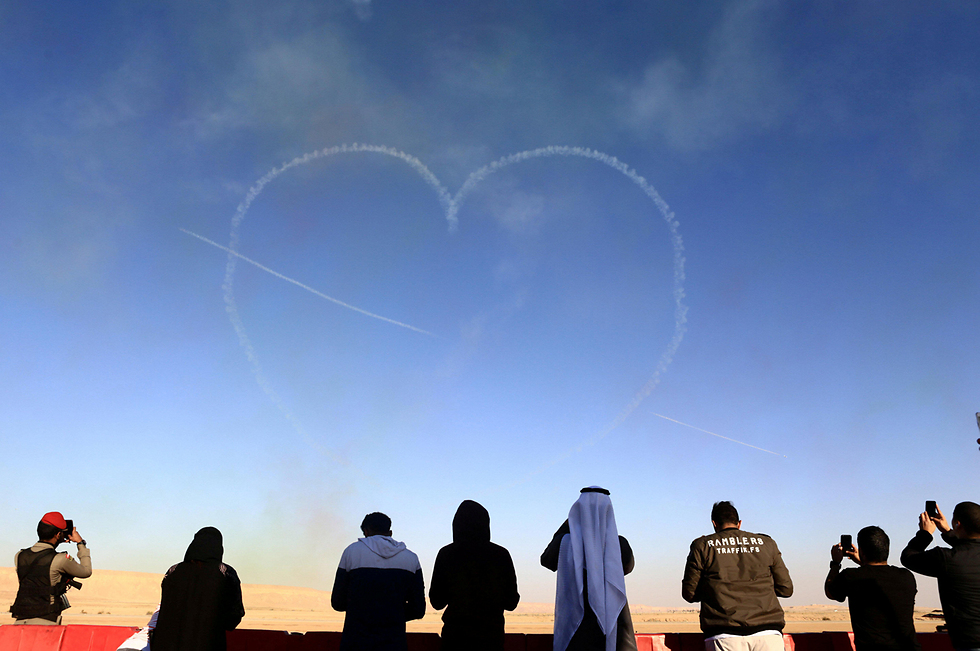 מפגן אווירי בריאד, סעודיה (צילום: רויטרס)