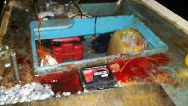 רשת וציוד דיג בסירה של עבדאללה זידאן