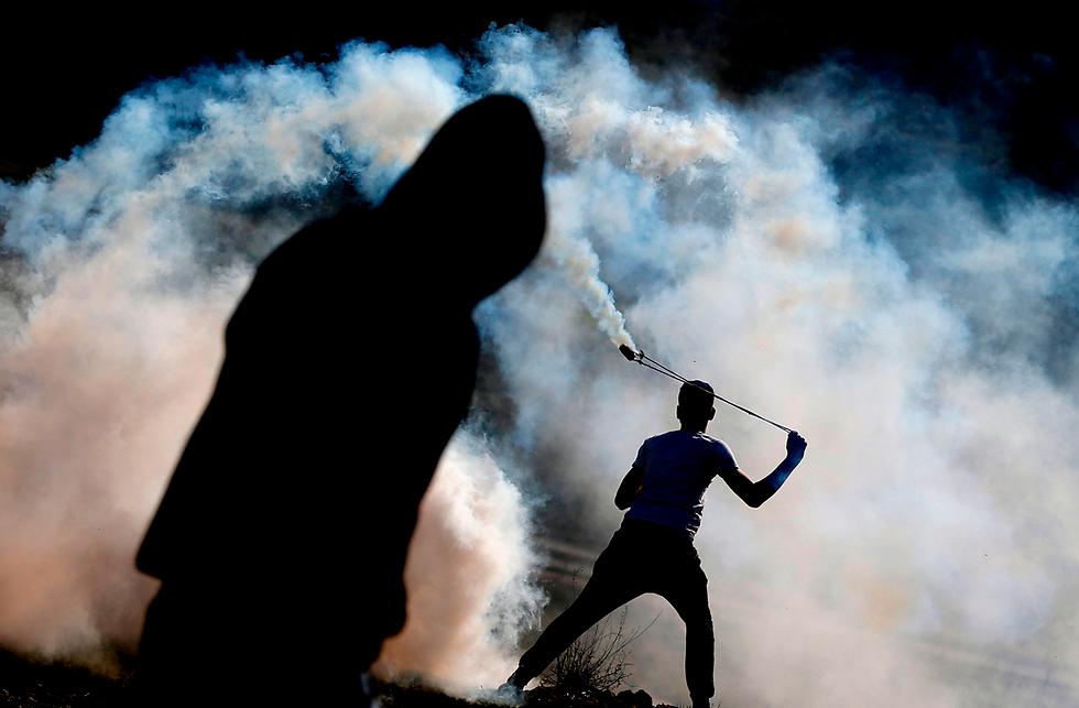 התפרעויות בנבי סאלח (צילום: AFP)