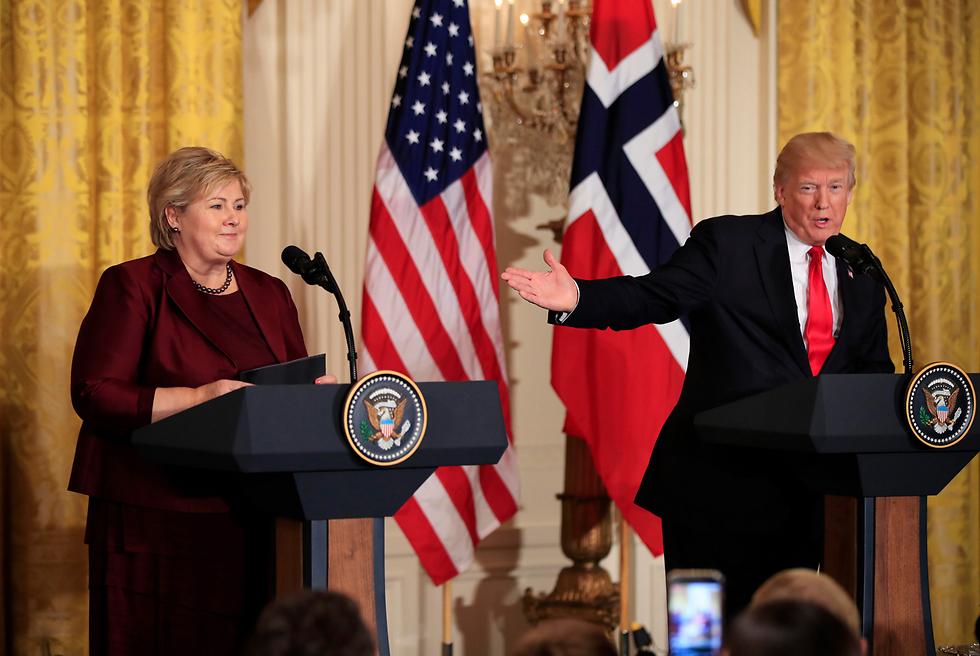 טראמפ מארח את סולברג בבית הלבן (צילום: AP) (צילום: AP)