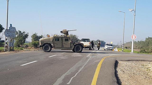 אזור מעבר כרם שלום נסגר הבוקר (צילום: בראל אפרים)