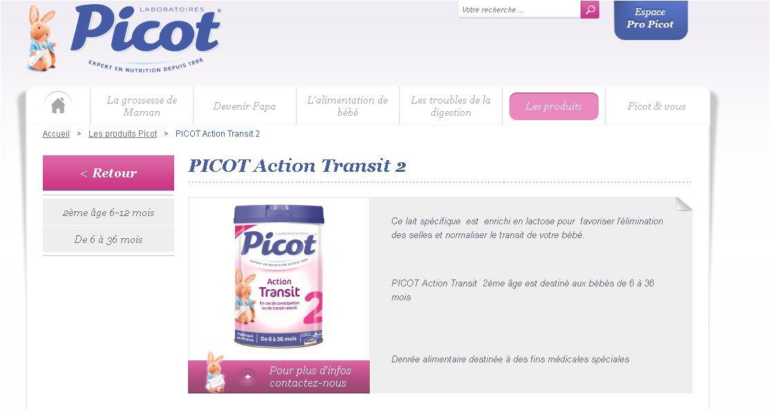 מותג Picot השייך לקבוצת Lactalis (מתוך אתר חברת lactalis) (מתוך אתר חברת lactalis)