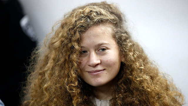 Tamimi was the subject of Geffen's poem, in which he compared her to Anne Frank and Joan of Arc (Photo: EPA)