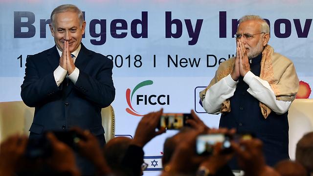 PM Narendra Modi and PM Netanyahu (Photo: AFP)