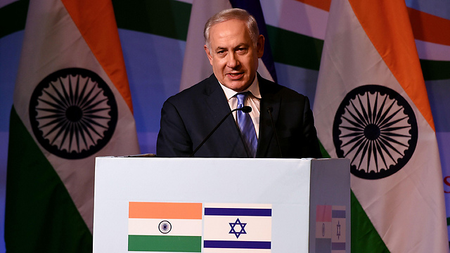 PM Netanyahu, in New Delhi, India (Photo: AFP)