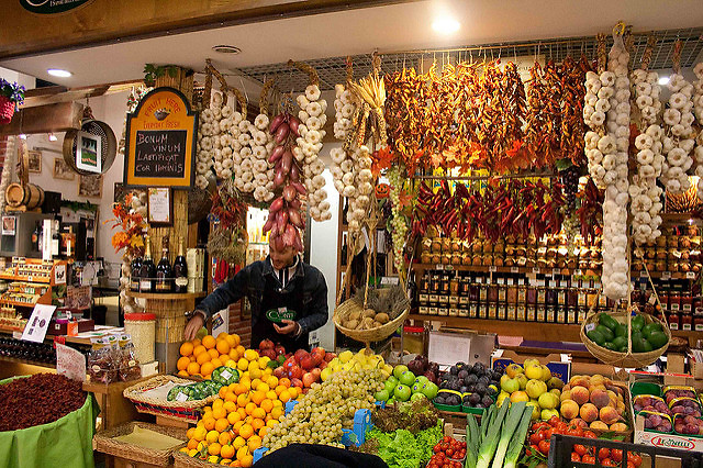 שוק האוכל בטרמיני (צילום: סלומה מואה)