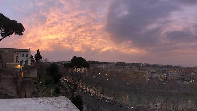 """הנוף מ""""החור של רומא"""" בגן התפוזים (צילום: סלומה מואה)"""