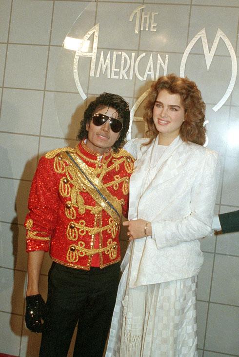 בגיל 19, עם מייקל ג'קסון (צילום: AP)