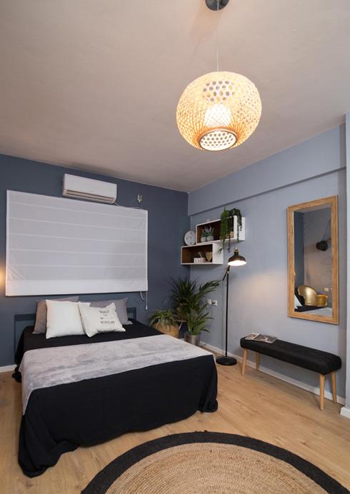 """החדר של ליאת מצ'ילה. מעצבות: מאיה הראל, ספי באר""""ז יונג, נטע נייגר ודיקלה שוקרון. נענו להעדפותיה המינימליסטיות של החיילת  (צילום: נויה שילוני)"""