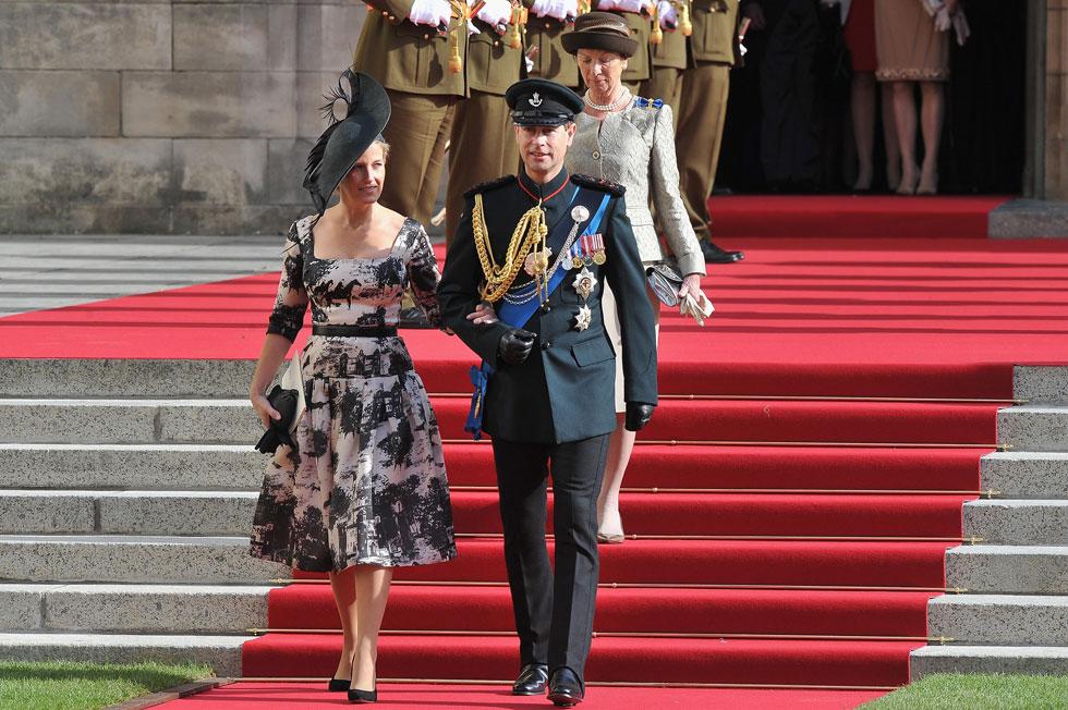 סופי, רוזנת ווסקס, והנסיך אדוארד. נפגשו כשעבדה ביחסי ציבור בלונדון (צילום: Gettyimages)