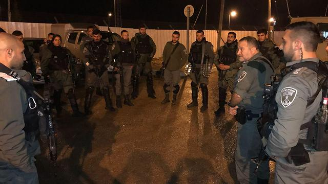 Border Police operating in Jenin