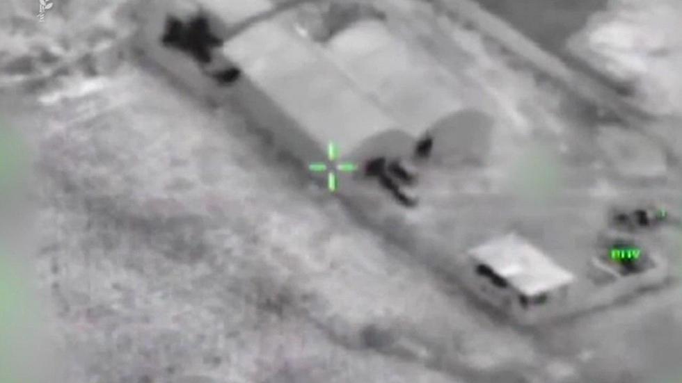 Aerial surveillance footage of the tunnel (Photo: IDF Spokesperson's Unit)