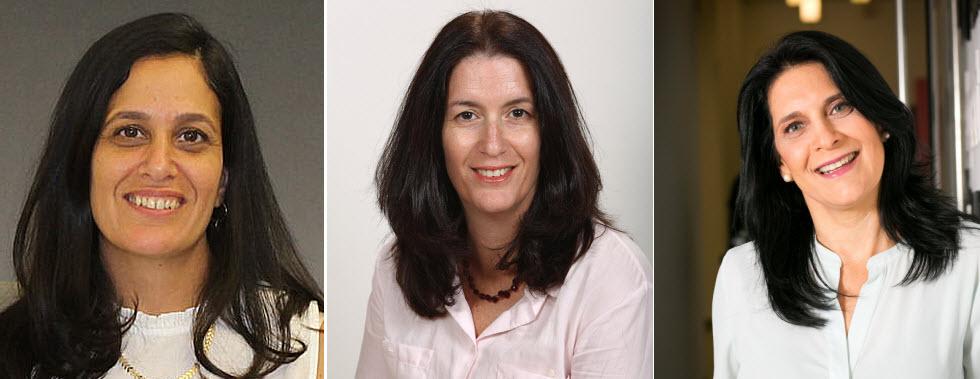 מימין: רונית רונן קרפול, עירית קליפר אבני ושני גינת (צילום רונית רונן קרפול: שלומי יוסף)