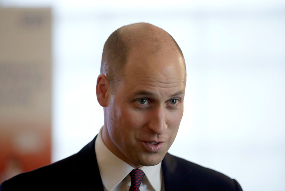 הכרזת עצמאות מההתקרחות הלא אחידה שהביכה אותו לאורך השנים. הנסיך וויליאם (צילום: Gettyimages)