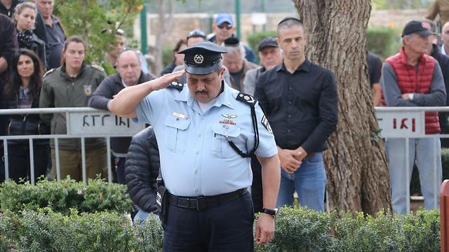 """נפרד בהצעדה. מפכ""""ל המשטרה רוני אלשיך (צילום: מוטי קמחי) (צילום: מוטי קמחי)"""