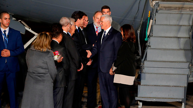 US VP Mike Pence lands in Israel (Photo: AFP)