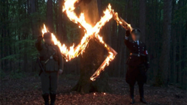 File photo: Neo-Nazis in Poland create burning swastika to commemorate Hitler's birthday