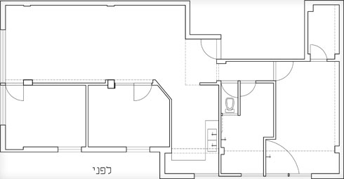 תוכנית הדירה לפני השיפוץ (תוכנית: אושרי אבירם ודנה קושמירסקי)