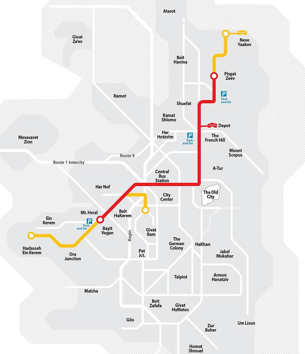 Red line route including expansions