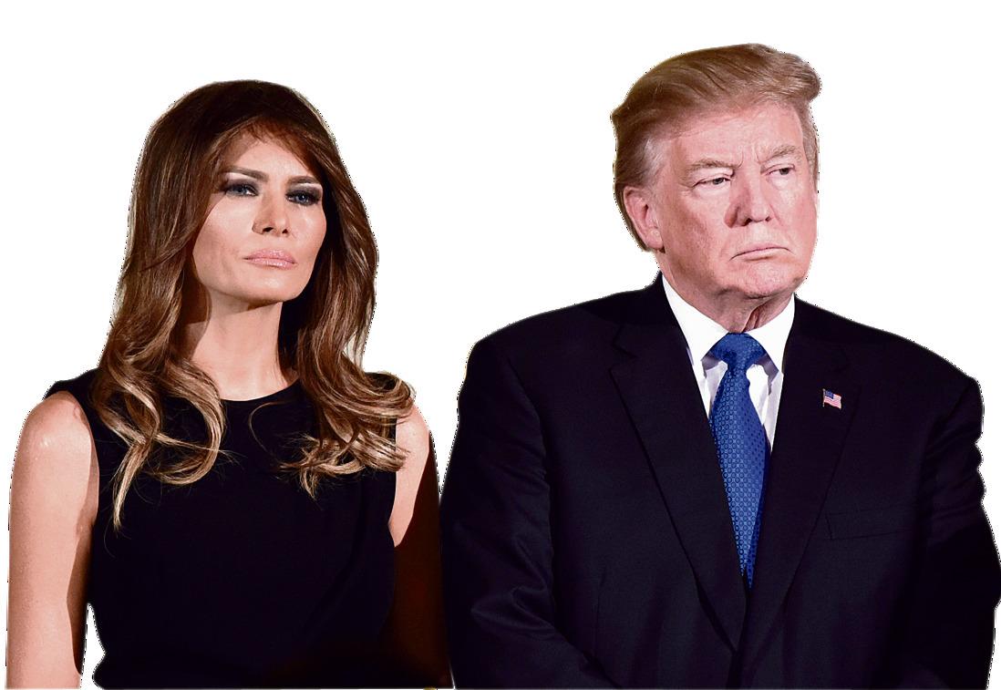 """עם הבעל, נשיא ארה""""ב. לפי הדיווחים, לבני הזוג יש חדרים נפרדים בבית הלבן"""