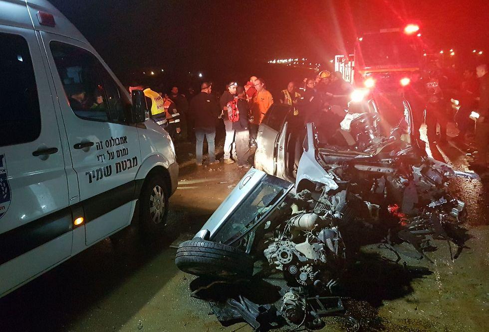 Scene of the accident (Photo: Nati Shapira)