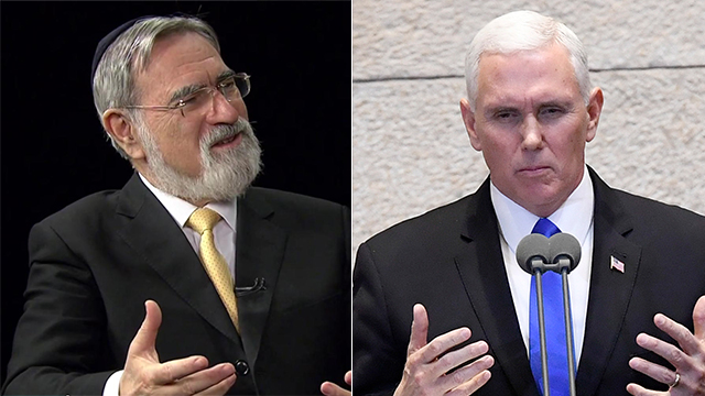 Rabbi Lord Jonathan Sacks helped write portions of VP Pence's speech in the Knesset (Photo: Matty Stern/US Embassy Tel Aviv)