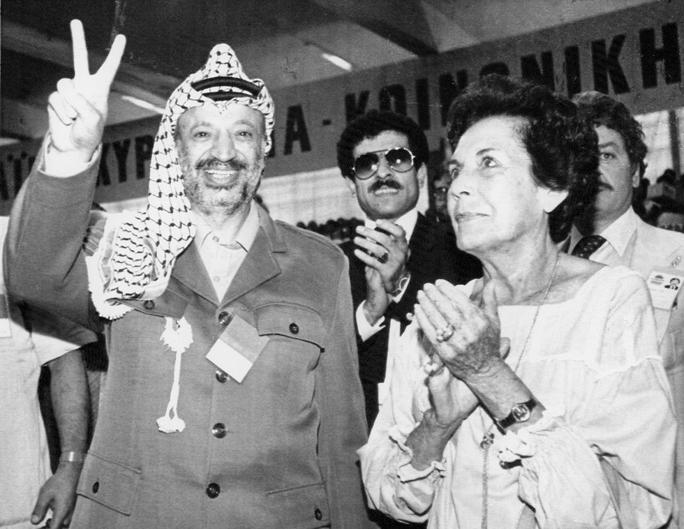 Arafat in Athens, 1984 (Photo: AP)