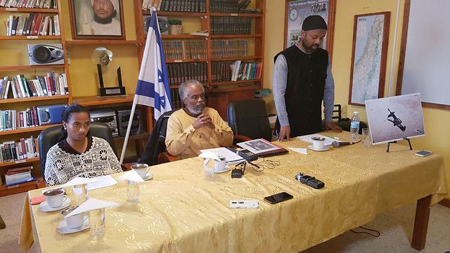Black Hebrews leadership holds press conference about case (Barel Efraim)