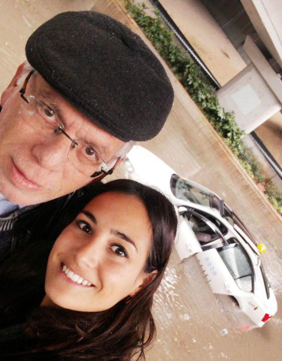 Avital Parmot and the cab driver (Photo: Avital Parmot)