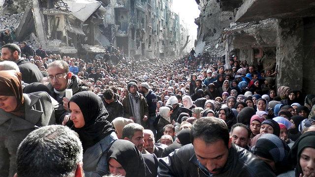 В 2014 году палестинцы пытались устроить протест против депортации из лагеря. Фото: АР
