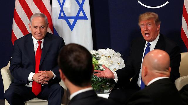 Netanyahu with Trump at the World Economic Forum in Davos, Switzerland (Photo: Reuters)
