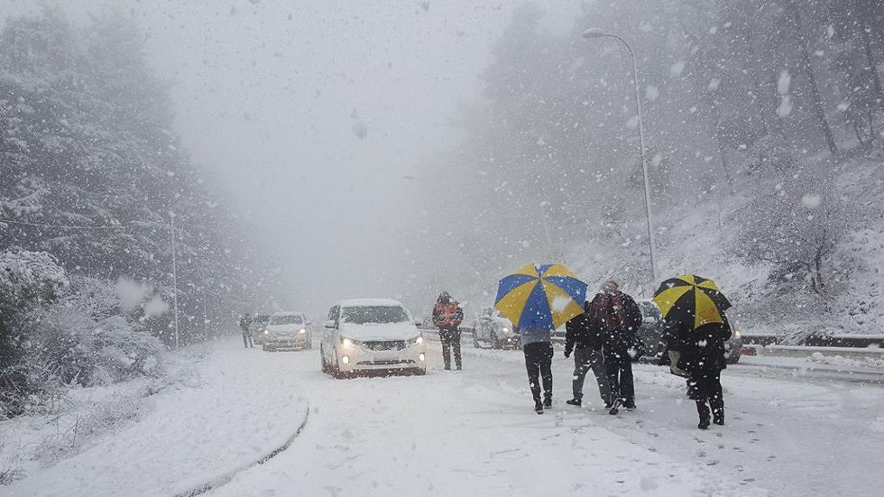 שלג כבד בצפת (צילום: דוברות עיריית צפת) (צילום: דוברות עיריית צפת)