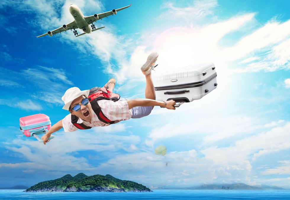 לשרוד זמן התארגנות בלתי סביר של חמש בנות, בולמוסי שופינג לא רצוניים ומוט סלפי (הקופץ מהמטוס אינו אבא של אהובית) (צילום: Shutterstock)