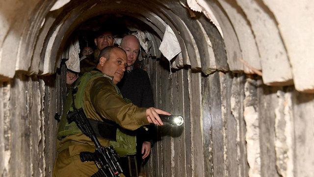 Jason Greenblatt in a Hamas tunnel (Photo: COGAT)