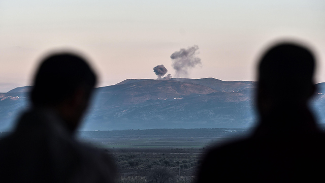 Bombardments in Afrin (Photo: AFP)