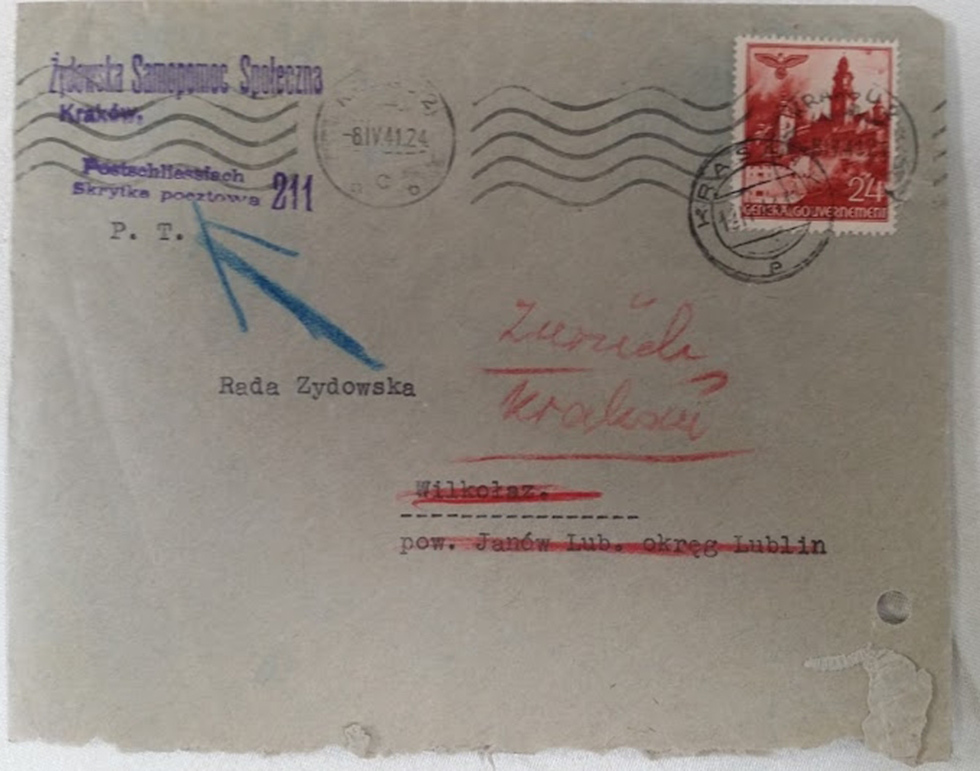 The envelopes from Weichert's collection