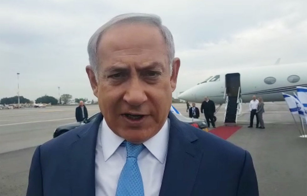 Prime Minister Netanyahu before leaving for Moscow