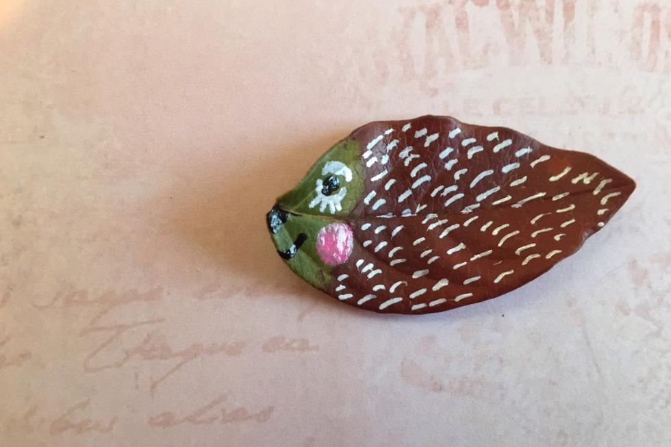 עלה דג (צילום ויצירה: אפרת דה בוטון)
