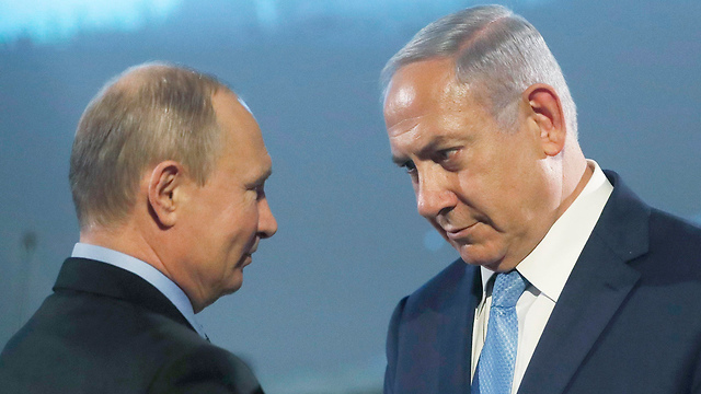 Netanyahu (R) and Putin. Israel can't rely on the Russian president's good intentions (Photo: EPA)