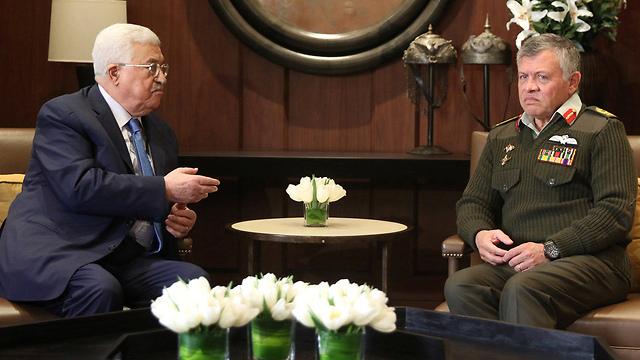 Abbas with Jordan's King Abdullah (Photo: Reuters) (Photo: Reuters)