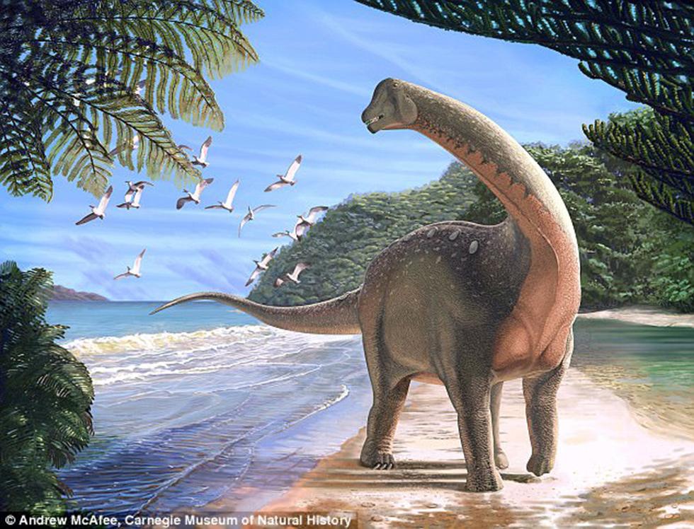 מנסורזאורוס. פעם חוף, היום מדבר